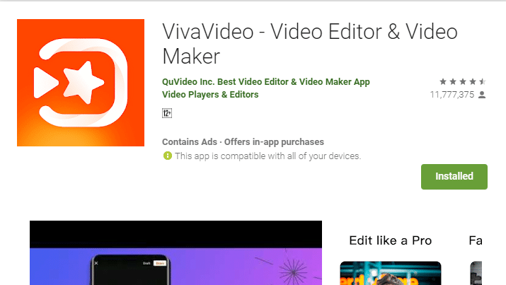 vivavideo apk pro video editor